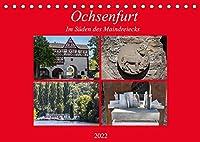 Ochsenfurt im Sueden des Maindreiecks (Tischkalender 2022 DIN A5 quer): Ochsenfurt ist eine typische mainfraenkische Kleinstadt mit intakter Stadtmauer (Monatskalender, 14 Seiten )