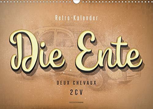 Die Ente, Deux Chevaux, 2CV (Wandkalender 2021 DIN A3 quer)