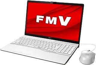 富士通 FMV LIFEBOOK AH42/E1(プレミアムホワイト)- 15.6型ノートパソコン[AMD Athlon Gold/メモリ 4GB / SSD 256GB / DVDドライブ]Microsoft Office Home & Bu...