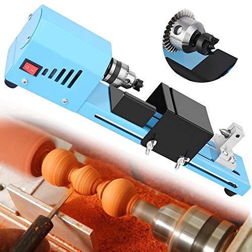 Mini DIY Holz-Drehwerkzeuge Holz-Drehmaschine, Holz-Drehmaschine, Präzisions-Bohrfutter, Schleifen Polieren Buddha-Perlen, Drehwerkzeug