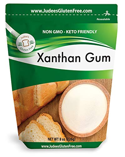 Judee's Xanthan Gum 8 oz - Non-GMO, Keto Friendly, Gluten & Nut Free Dedicated Facility.