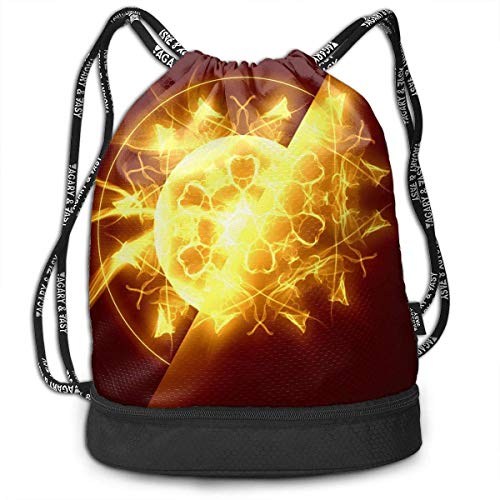 CheChenDengH Kordelzug Gymsack Dream Catcher Fire Print Drawstring Bags - Simple Bundle Pocket Backpack