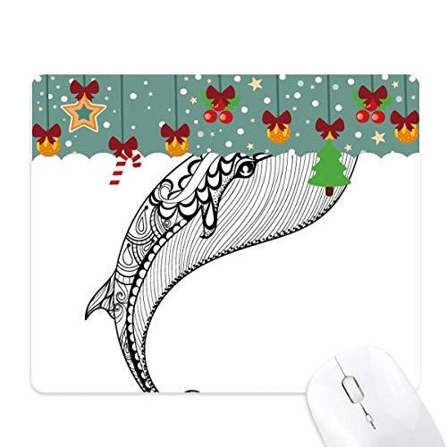 Blauwe walvis grote sterke muis Pad spel Office Mat Kerstmis Rubber Pad