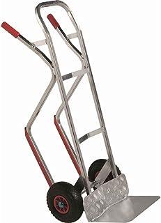 Carro de aluminio ligero profesional 200 kg con topes para escaleras y transporte en almacén y empresa carro industrial portaequipajes portaequipajes para ferretería portabotellas - Mod.2500