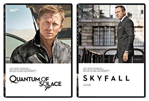 Skyfall DVD & Quantum of Solace 2 Pack James Bond 007 Daniel Craig Set
