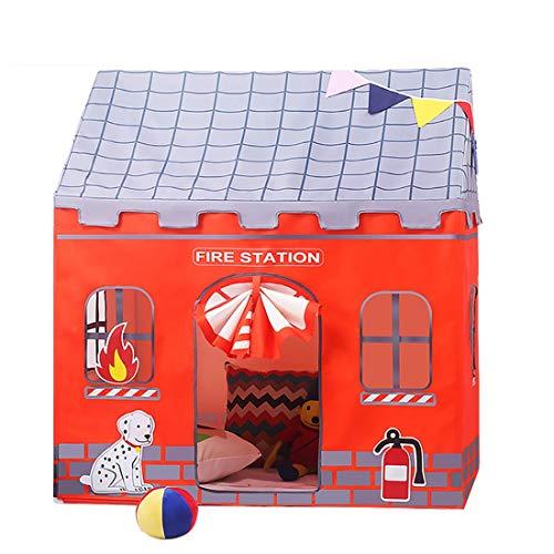 LWKBE Feuerwache Spielen Zelt Kinder vorgeben Playhouse Rollenspiel Spaß als Feuerwehrmann Sam, verwenden Indoor/Outdoor für Jungen Mädchen Kinder oder Haustiere Geschenk