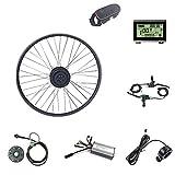 Schuck Kit de conversión de Bicicleta eléctrica, Kit de Bicicleta eléctrica de 36V 500W, Kit de conversión de Motor de Bicicleta E-Bike de 20 Pulgadas, Pantalla LCD