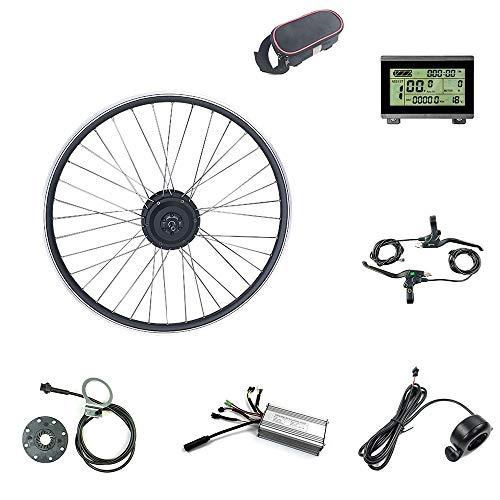Schuck Ebike Umbausatz, 36V 500W Elektrofahrrad Kit, 28-Zoll-E-Bike-Fahrradmotor-Umrüstsatz, LCD Display