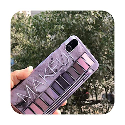 Paleta de sombra de ojos para iPhone XS 11 Pro MAX XR X XS Max caso para iPhone 11 7 6 6S 8 Plus cubierta suave 2-para iPhone 6 Plus