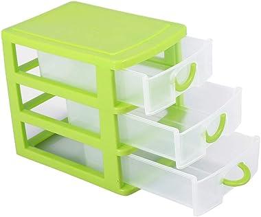 Plastic Non-Toxic Drawer Storage Organizer, 2 Layers Drawer 3 Layers Drawer Plastic Storage(3 Layers of Green)