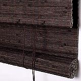 QARYYQ - Cortina de bambú con filtro de luz lateral para cortinas de sombreado...