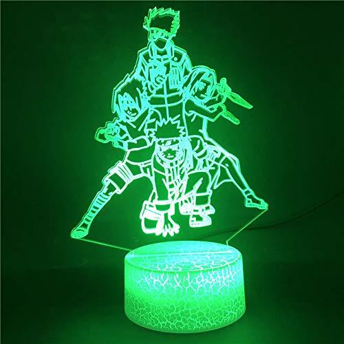 Luz de noche Ilusión óptica Lámpara 3D 7 colores Cambio de control táctil Luz de mesa LED Lámpara para dormir Decoración del hogar Cumpleaños/Navidad/Regalos de fiesta para niños (248)