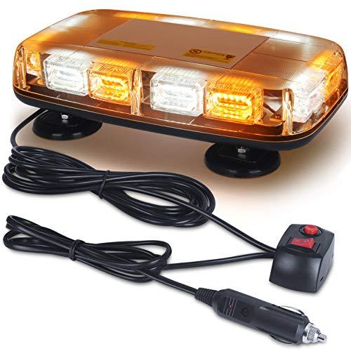 LED Strobe Light, 12V-24V 72 LED Warning Safety Flashing Beacon Lights with 4 Magnet and 16.4 ft Straight Cord for Vehicle Forklift Truck Tractor UTV Car Bus