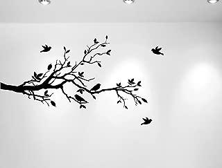 Tree Branches Wall Decal Love Birds Vinyl Sticker Nursery Leaves 56