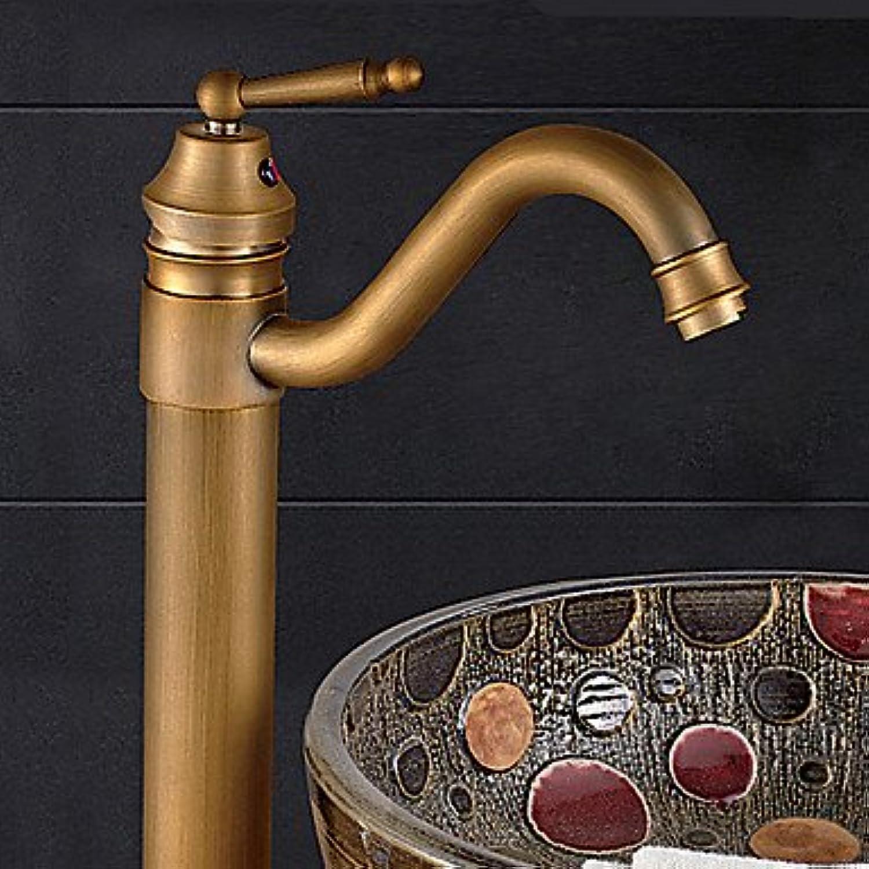 Bathroom Sink Faucet - redatable Antique Bronze Vessel One Hole Single Handle One Hole
