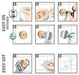 Tesa draad Badewannengriff (Messing, inkl. Klebelösung, hält bis 20kg/Adapter (kurzfristig bis 120kg), 65mm x 365mm x 80mm) - 7