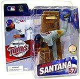 McFarlane Toys MLB Sports Picks Series 15 Action Figure Johan Santana (Minnesota Twins) Grey Jersey Variant by McFarlane MLB Baseball Sportspicks Series 15 -