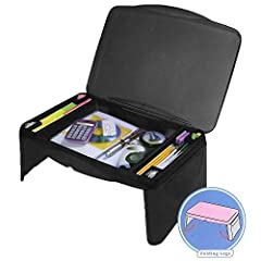 MULTI-PURPOSE USE - It can be used as a laptop stand, travel desk, breakfast table, bed tray, bed table, book stand, and picnic table, gaming desk. beach table, Portable office desk, lap tray for food, kids study desk, laptop desk, study table, works...
