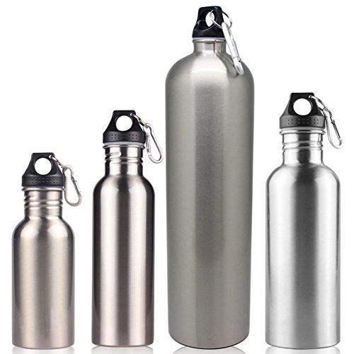Zantec Sport Botellas D 'agua de acero inoxidable plata single-layer Botella térmica...
