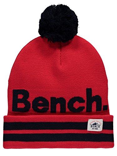 Bench Jungen Turn UP Bobble Beanie Mütze, Rot (Red Rd012), S (Herstellergröße:S-M)