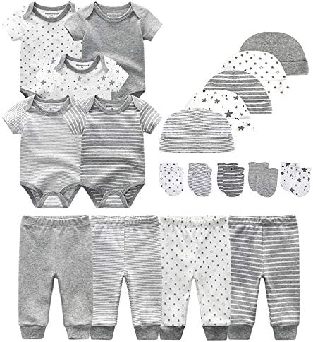 Chamie Newborn Essentials Layette Gift Set Short Sleeve Onesies Baby Clothes Pants Caps Mittens product image