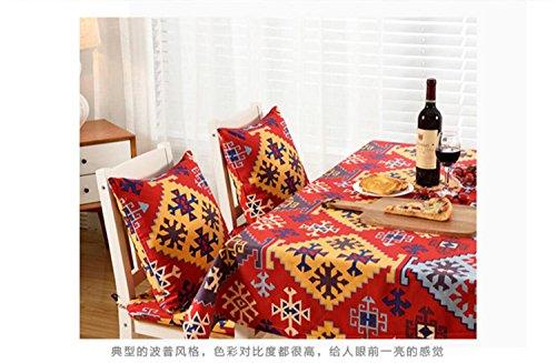 Creek Ywh Land America Retro tafelkleed stof rechthoekig salontafel tafelkleed kleed kleed buitenland 6530 140 x 140 cm