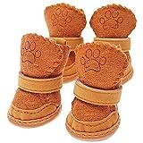Stivali da Neve Dog Paw Cura Scarpe, Peluche Termica Calzari High-Top Zampa Protettore Antiscivolo Morbide Soli Pattini dei Bottini per I Piccoli Cani