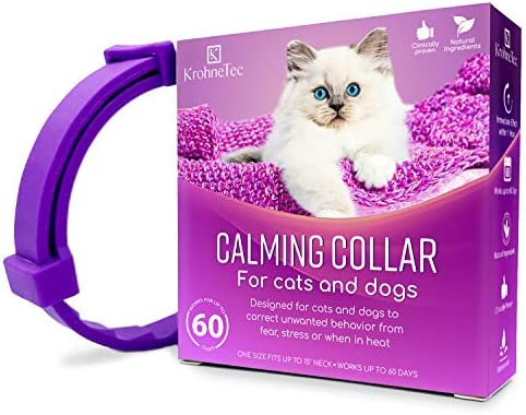 KrohneTec Calming Collar for Cats Anxiety Relief Cat Collars Pheromone and Lavender Calming product image
