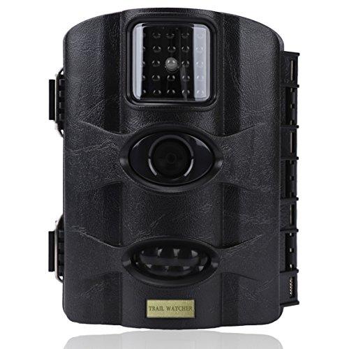 Trail Watcher Wildkamera, 16 MP 1080P Infrarot-Nachtsicht-Kamera mit 6,1 cm (2,4 Zoll) LCD, 24 IR-LED bis zu 20 m, IP65-wassergeschützt, für Wildtiere, Jagd, Überwachung und Bauernhof-Sicherheit,