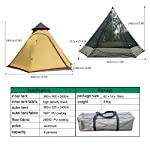 TentHome Waterproof Double Layers Teepee Tent Outdoor Camping 3.1M/10ft Family Tent Pyramids Indian Tent With fixed… 5
