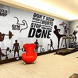 Mode Graffiti Sport Gym Tapetenstange KTV großes Wandbild Gewichtheben Muskel männlichen...