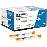 "100PCs of u100 insulin syringe 31 Gauge 5/16"" - 8MM"