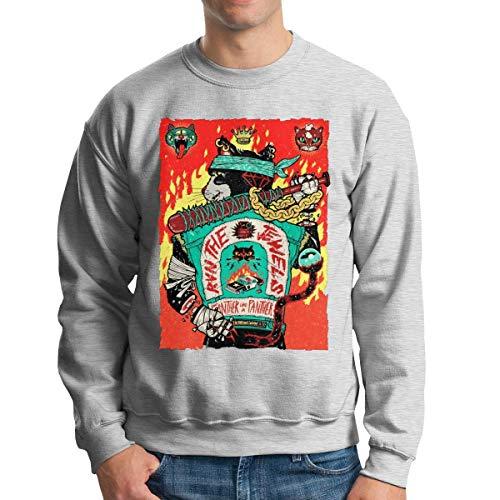 henghuidashi Run The Jewels Men's Crew Neck Sweatshirt Stylish Pullover Black