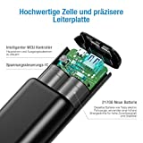 POWERADD Powerbank EnergyCell 10000mAh Mini Externer Akku USB Power Bank Kompaktes Leichtes Tragbares Ladegerät für Handy, iPhone iPad Samsung Galaxy Huawei und Andere Smartphones-Schwarz - 6