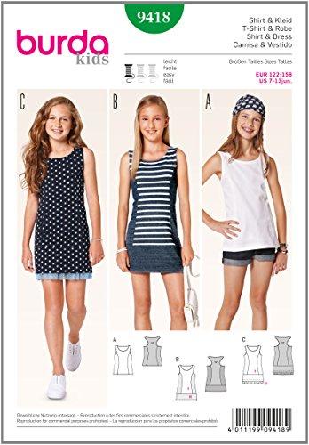 Burda Schnittmuster Shirt, Kleid 9418