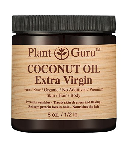 Coconut Oil Extra Virgin Body Butter 8 oz 100% Pure Raw Unrefined Natural Cold Pressed. For Skin, and Hair Growth Moisturizer. DIY Creams, Lip Balm, Lotions, Soap Making