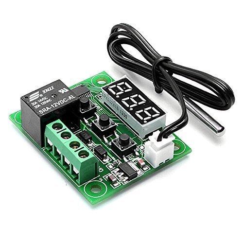 ThingMatic - Regulador digital de temperatura (12 V, con sensor, pantalla y relé)