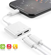 Charging Power Adapter to 3.5mm Headphone Jack Cable 2 in 1 Splitter for Charging and Audio Compatible for iPhone Dongle11// XS//MAX//XR//X//8//8Plus Support for All iOS Earphone Adapter for iPhone