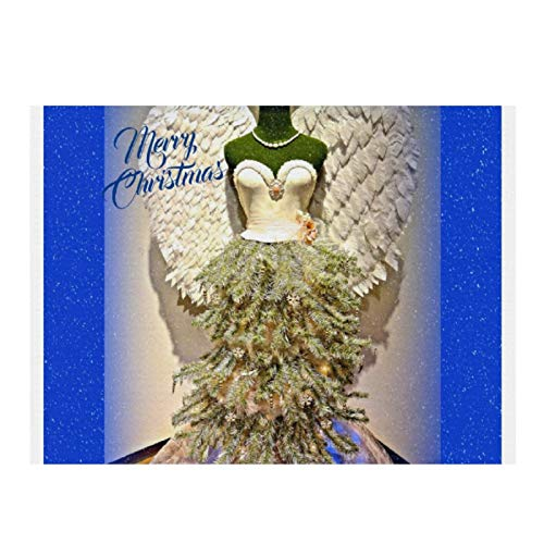 Angel Mannequin Dress Form Christmas Tree Absorbent Dish Drying Mat Multifunction and Microfiber Drying Pad for Kitchen Counter Sinks Dining Table 15.7X11.8 inch