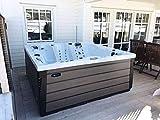 Jacuzzi con 71 chorros de masaje, gran jardín exterior, para 2, 6 personas, piscina exterior, jacuzzi para jardín.
