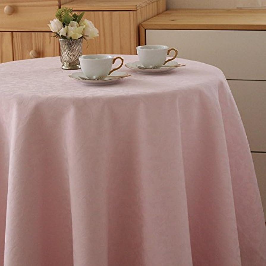乳製品手つかずの干渉する円形 テーブルクロス ラフィネ 直径170cm (日本製) アラベスク柄 [上品な質感] ピンク ブルーミング中西
