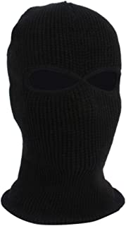 Oshide Face Cover Two Hole Knit Hat Winter Thermal Ski Mask Warm Face Masks Stretch Snow mask