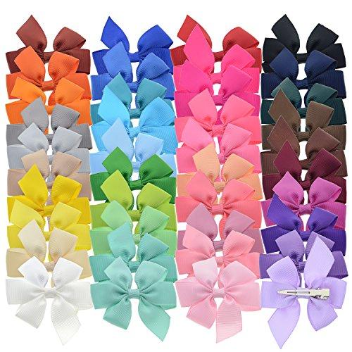 lclhb 40colores 7,6cm Boutique grogrén Pinwheel lazos de pelo para bebé niñas