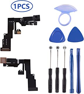 New OEM 1.2MP Front Facing Camera Module Compatible for iPhone 6 (All Carriers) Front Camera Replacement Compatible with iPhone 6 Proximity Light Sensor Face Detection with Repair Tools