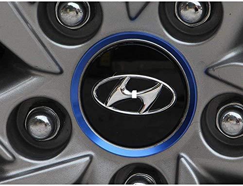 MISSLYY 4 Piezas Coche Tapas Centrales de Llantas para 2015 Hyundai Tucson,con el Logotipo De Insignia Rueda Tapas De Centro Prueba De Polvo Accesorios De Decorativo De Automóvil