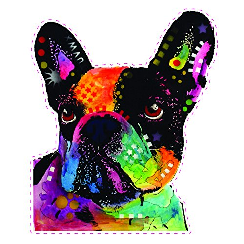 Enjoy It Dean Russo French Bulldog Car Stickers, Frenchie Car Window Decals, 2 pieces