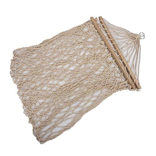coxxlloo Algodón Blanco Columpio de Cuerda Colgando Hamaca en el Porche o en una Playa