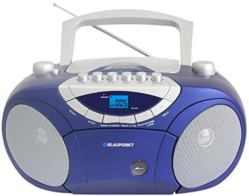 Blaupunkt BB15BL Boombox mit Radio/CD/MP3-Player/Kassettenplayer (mit LCD-Dislay, USB, X-Bass) blau