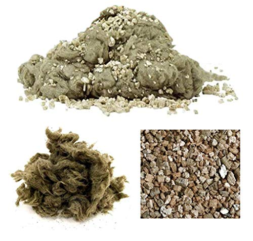 ZBXFCSH Glowing Embers, Rock Wool & Vermiculite Granules for Vent Free or Vented Gas Log Sets, Inserts,Fireplaces, Fire-Pit and Stoves, 16oz