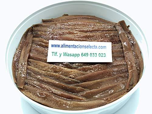Anchoas de Santoña Gourmet 700gr Pandereta Artesanal con 90 Filetes de Anchoa...
